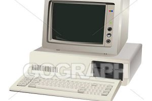old computer clipart 6