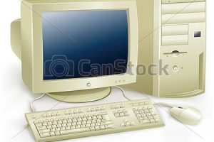 old computer clipart 7