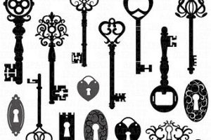 old fashioned key clipart 3