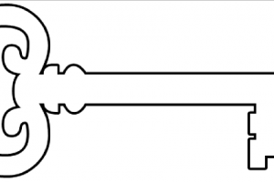 old fashioned key clipart