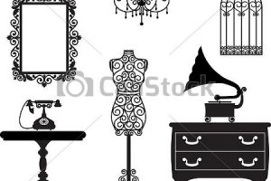 old furniture clipart 4