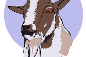old goat clipart