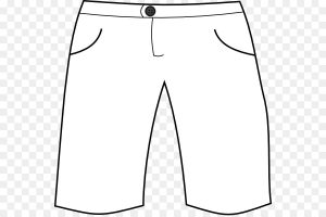 pants clipart black and white 2