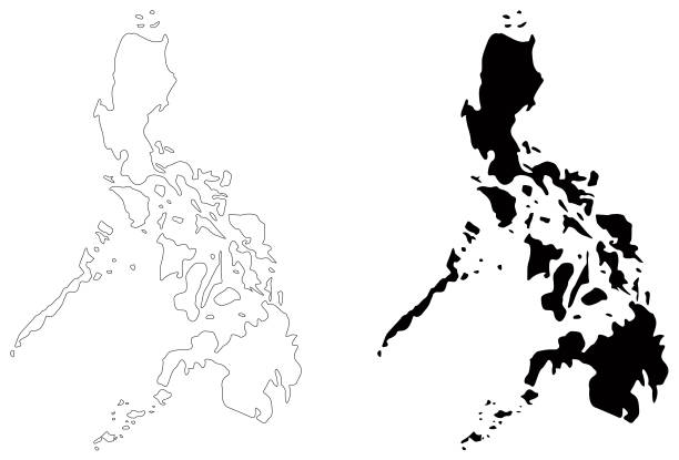 Philippine Map Black Philippine map clipart black and white 5 » Clipart Station