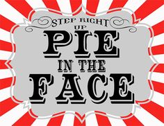 pie in the face clipart 3