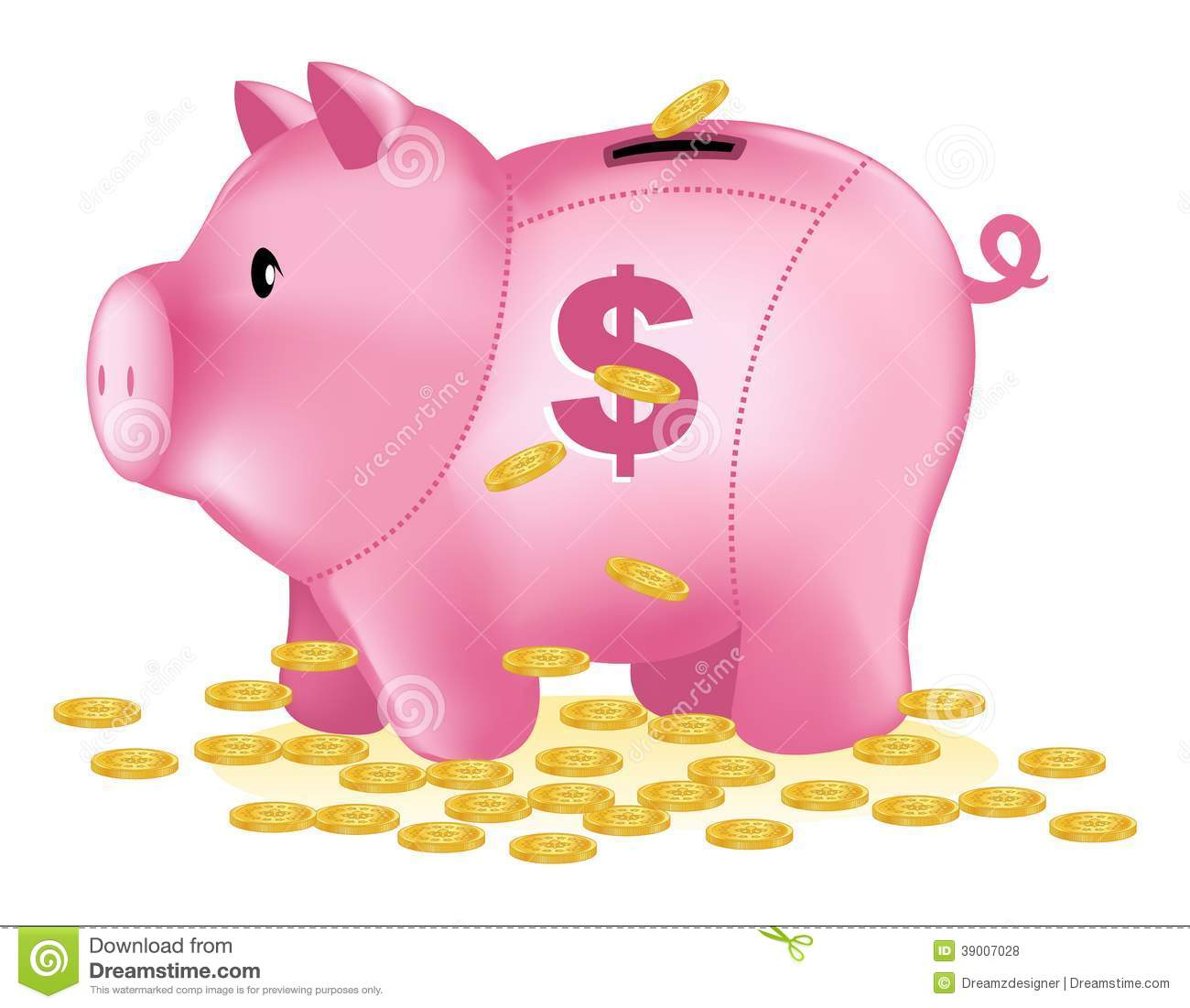 Dollar sign pink. Clipart station