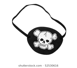 A cool pirate with an eye patch – clipart by vector toons.