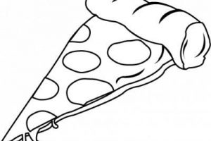 pizza slice clipart black and white 4