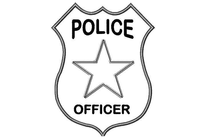 picture regarding Printable Police Badge named Printable Law enforcement Badge Template Law enforcement Badge Coloring