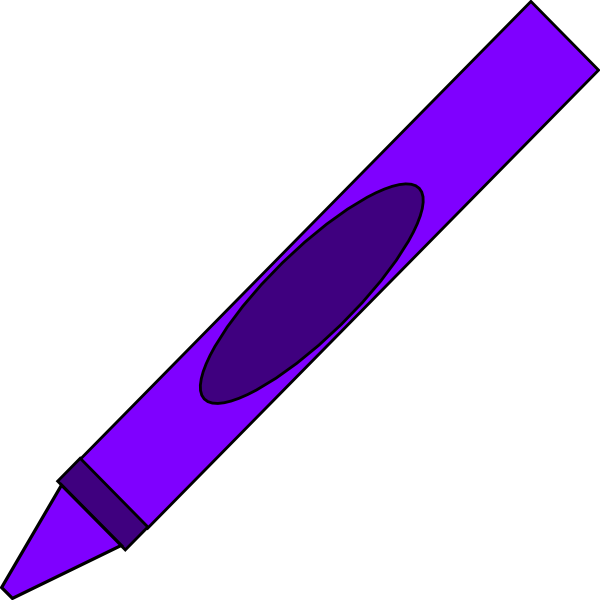 Purple crayon. Clipart station