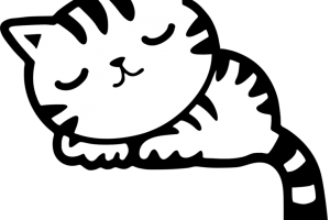 pusa clipart black and white 2