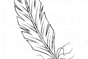 quill clipart black and white 3