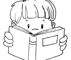 read clipart black and white