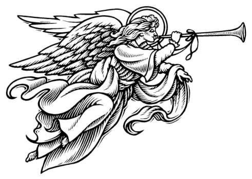 Religious Christmas Clipart.Christmas Angel Clipart Black And White Free Design