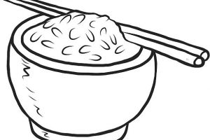 rice black and white clipart 2