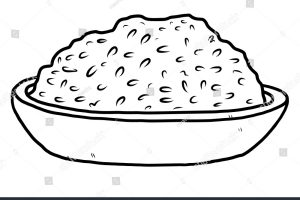 rice black and white clipart 3