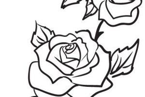 rose clipart outline 4