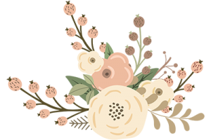 rustic flowers clipart
