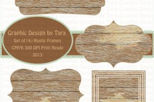 rustic frame clipart 5
