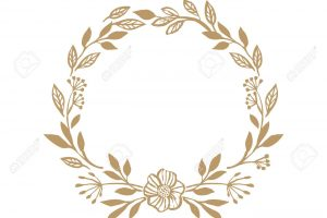 Floral rustic wreath for wedding invitation template design. Bot