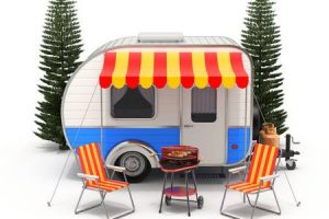 rv camping clipart 1