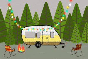 rv camping clipart 4