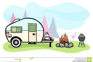 rv camping clipart 6