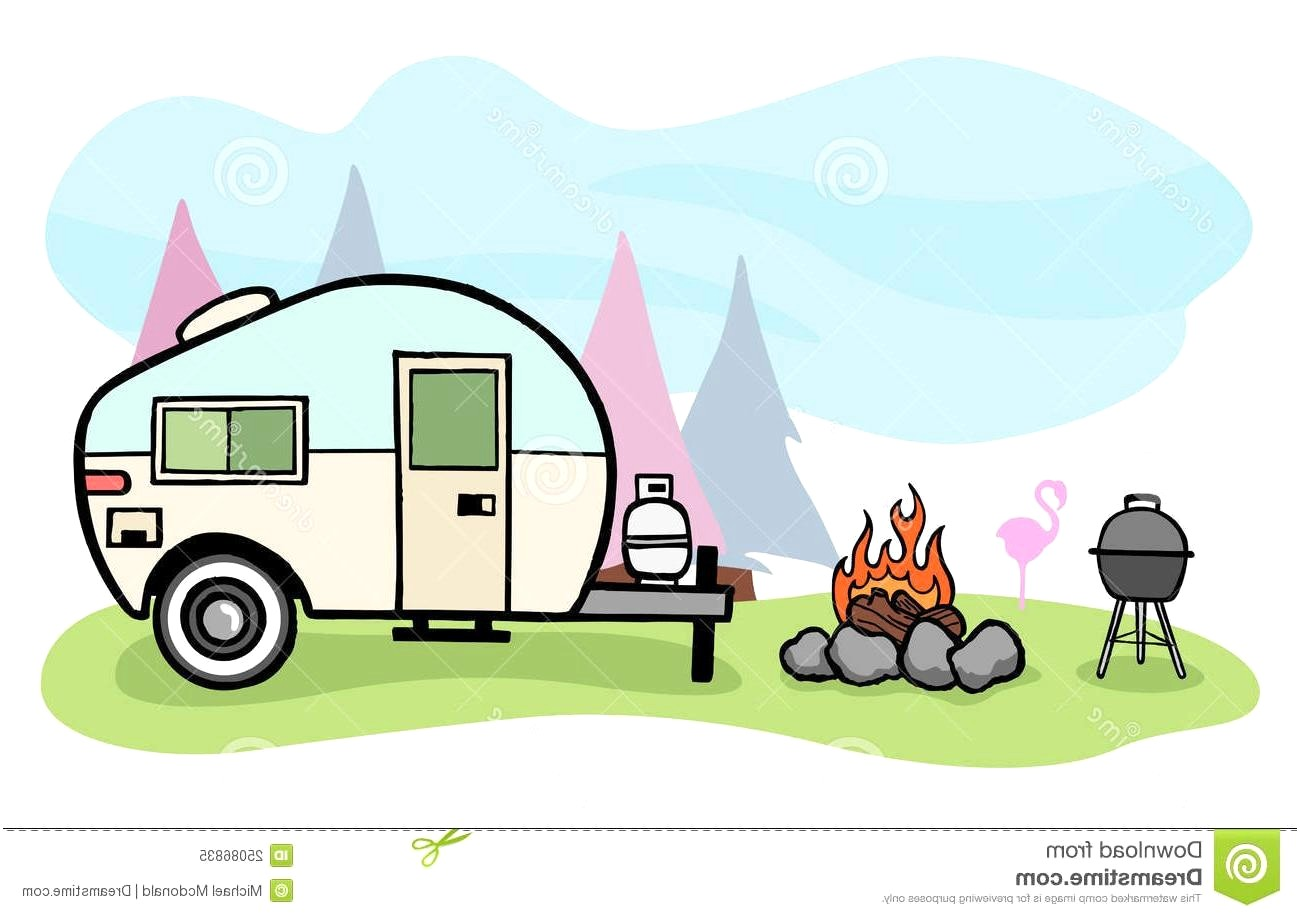 Camping camper. Rv clipart station