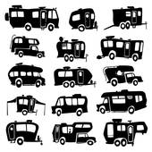 rv clipart black and white 4