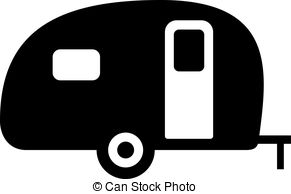 rv clipart black and white
