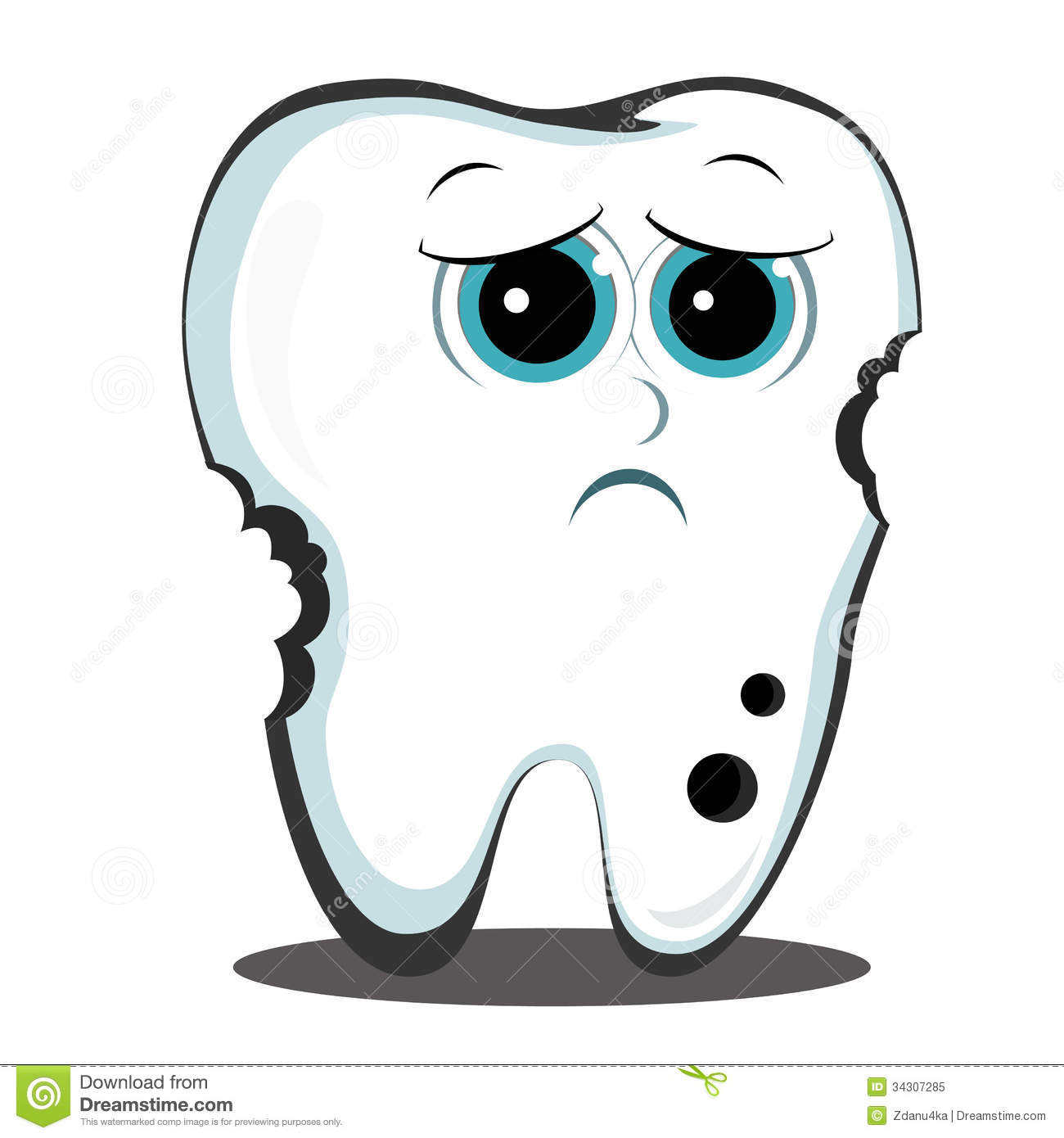 Sad Tooth Clipart Clipart Station