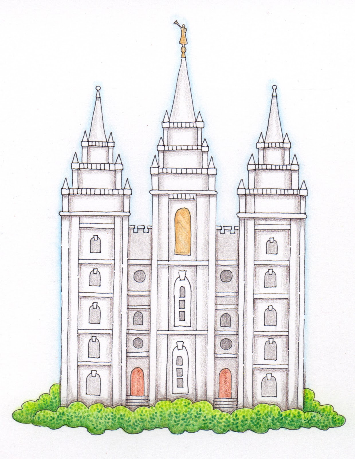 Salt Lake City Temple Clipart 4 Clipart Station