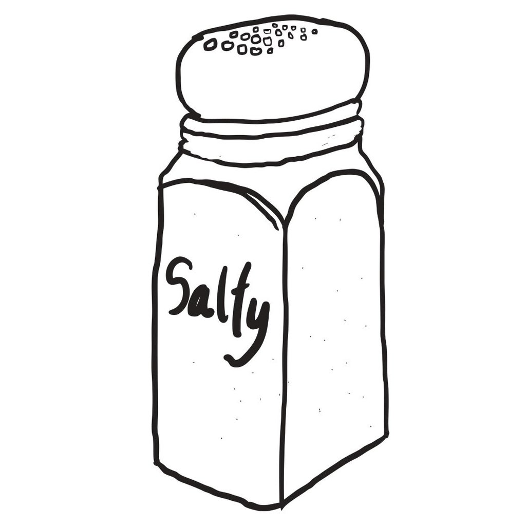Salty foods clipart black and white 4 » Clipart Station