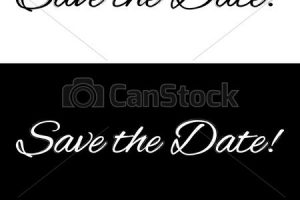 save the date banner clipart 4
