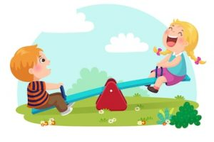 seesaw clipart 7