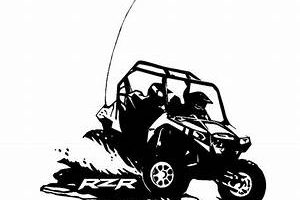 This Illustration Depicts A Red Utv Recreational Vehicle Clipart