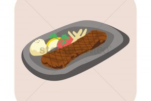 sizzling plate clipart 3
