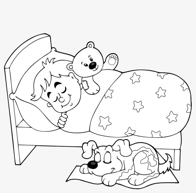 Sleeping clipart black and white 6 » Clipart Station