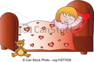 sleeping girl clipart 8