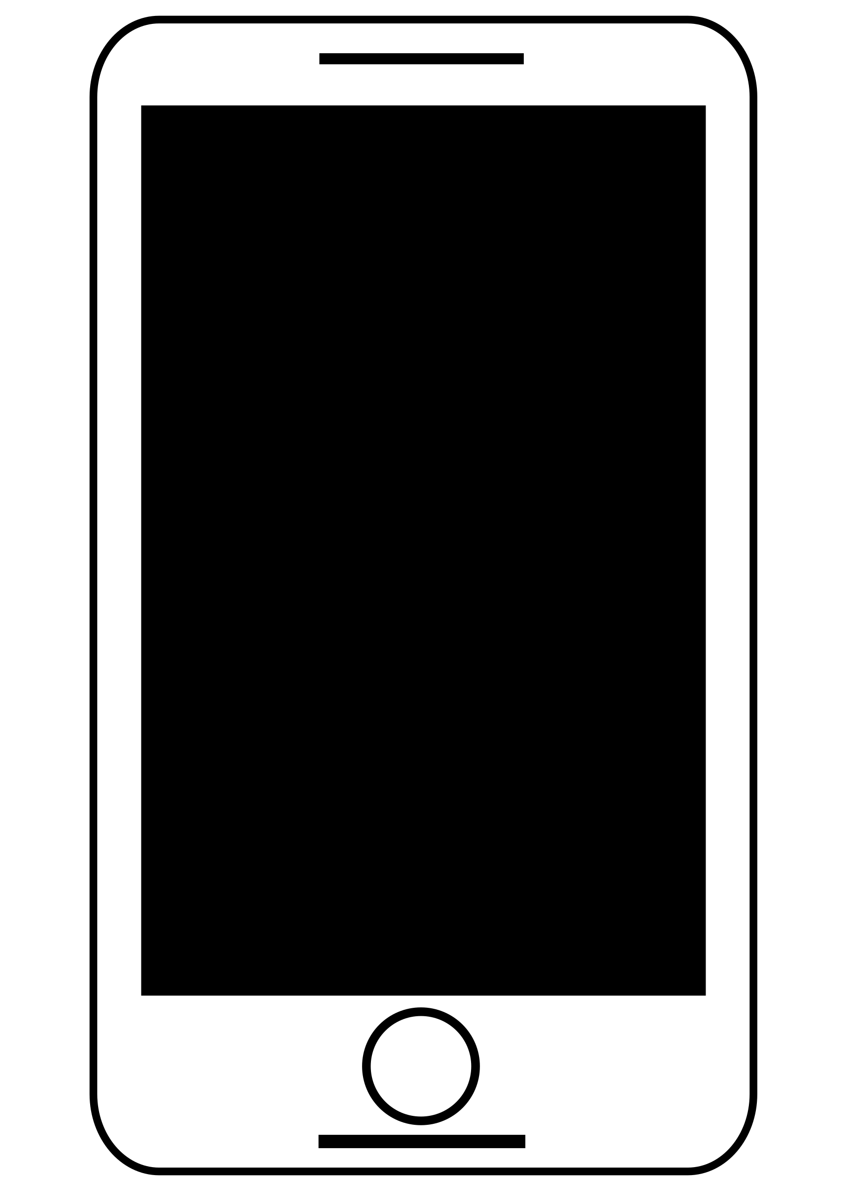 Smartphone clipart black and white 3 » Clipart Station