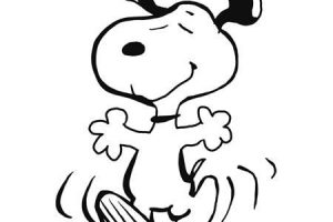 snoopy dancing clipart