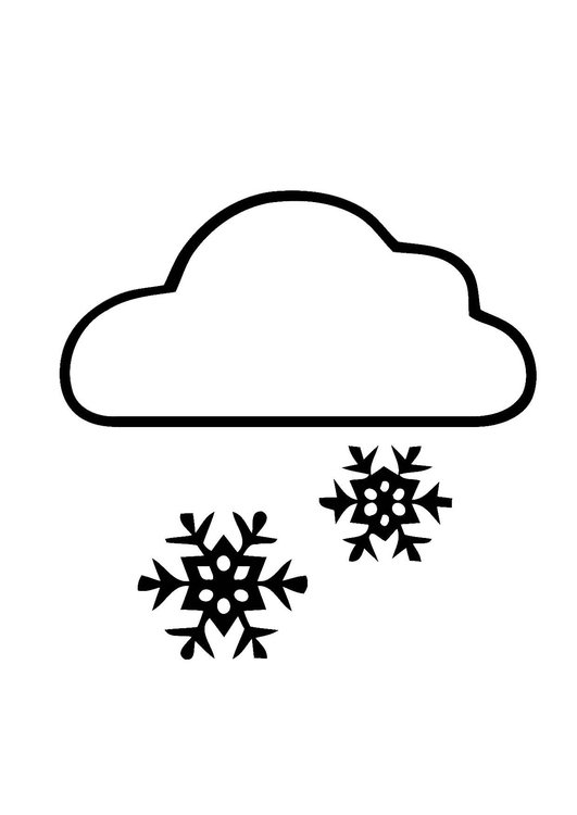 Snow black. Clipart and white station