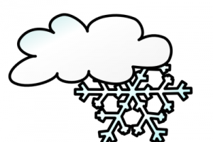 snow clipart black and white