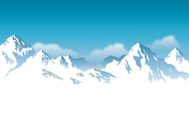 Snow mountain. Clipart station