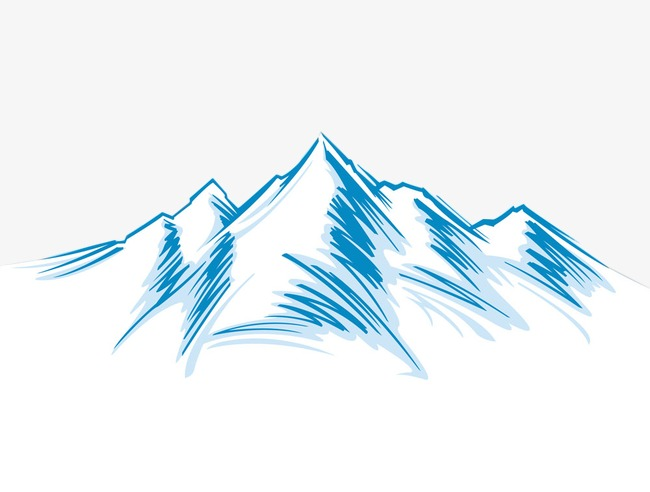 Mountain snow. Clipart station