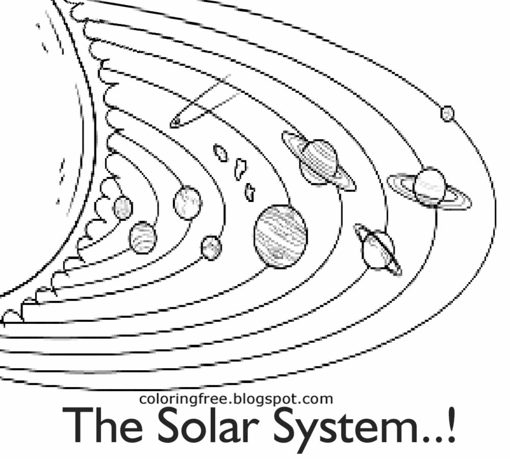 - Solar System Black And White Picture Elegant Free Coloring Pages
