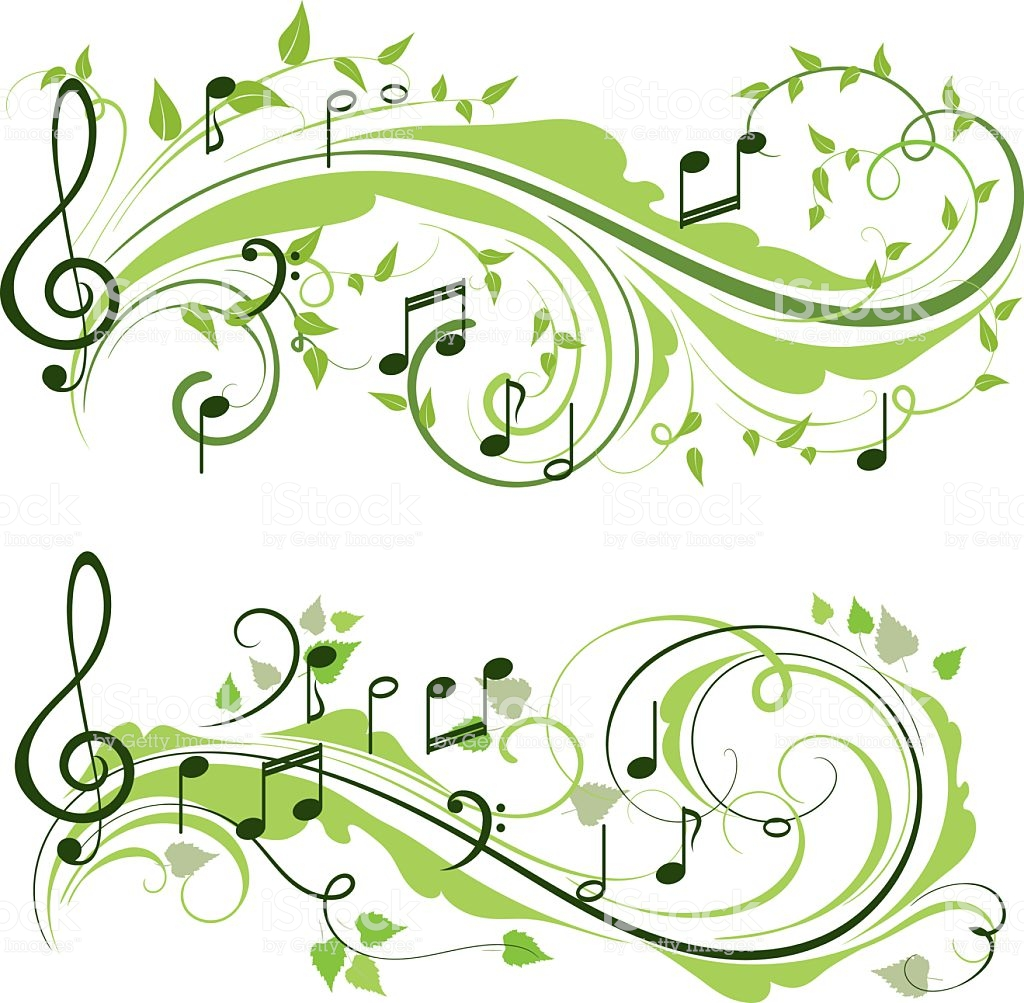 Music spring. Clipart station