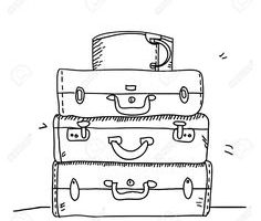luggage clipart black and white - Clip Art Library