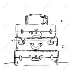Clipart Black And White Luggage Clipart Empty Suitcase   Transparent PNG  Download #195285 - Vippng