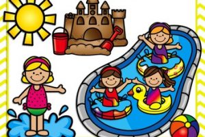 summer activities for kids clipart 1